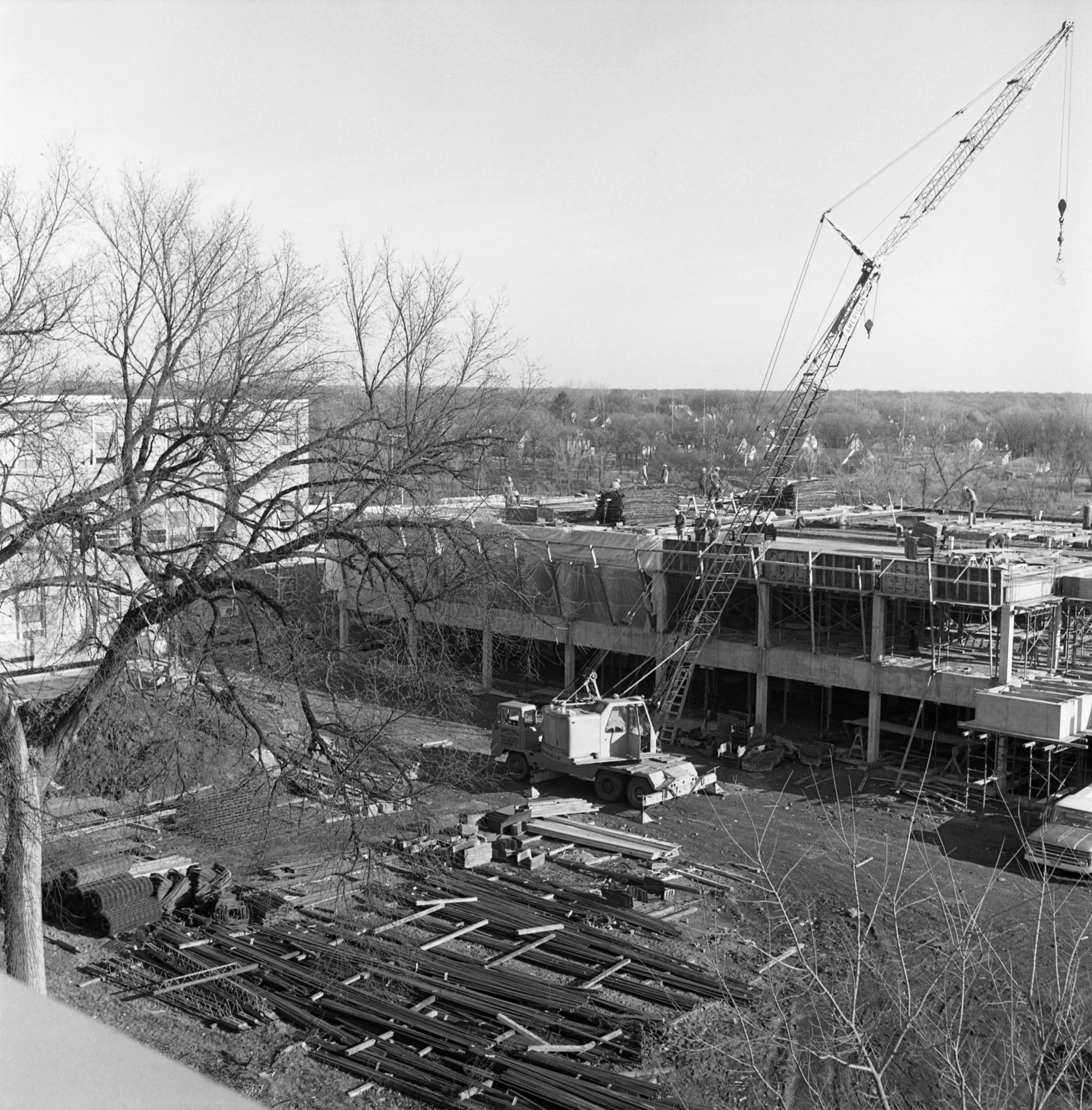 School of Business building construction, 1968