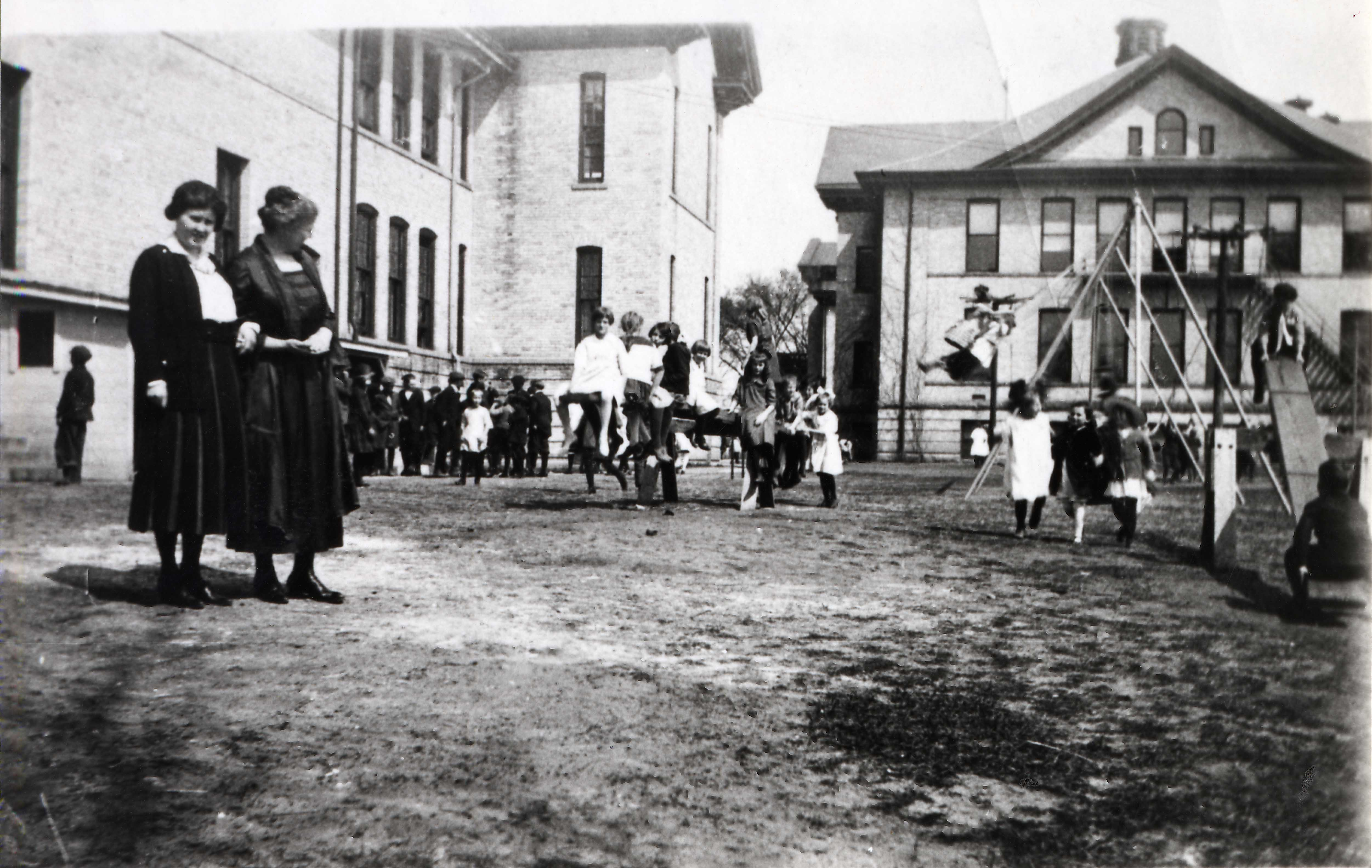 Old Model School just north of Riverview, 1920s