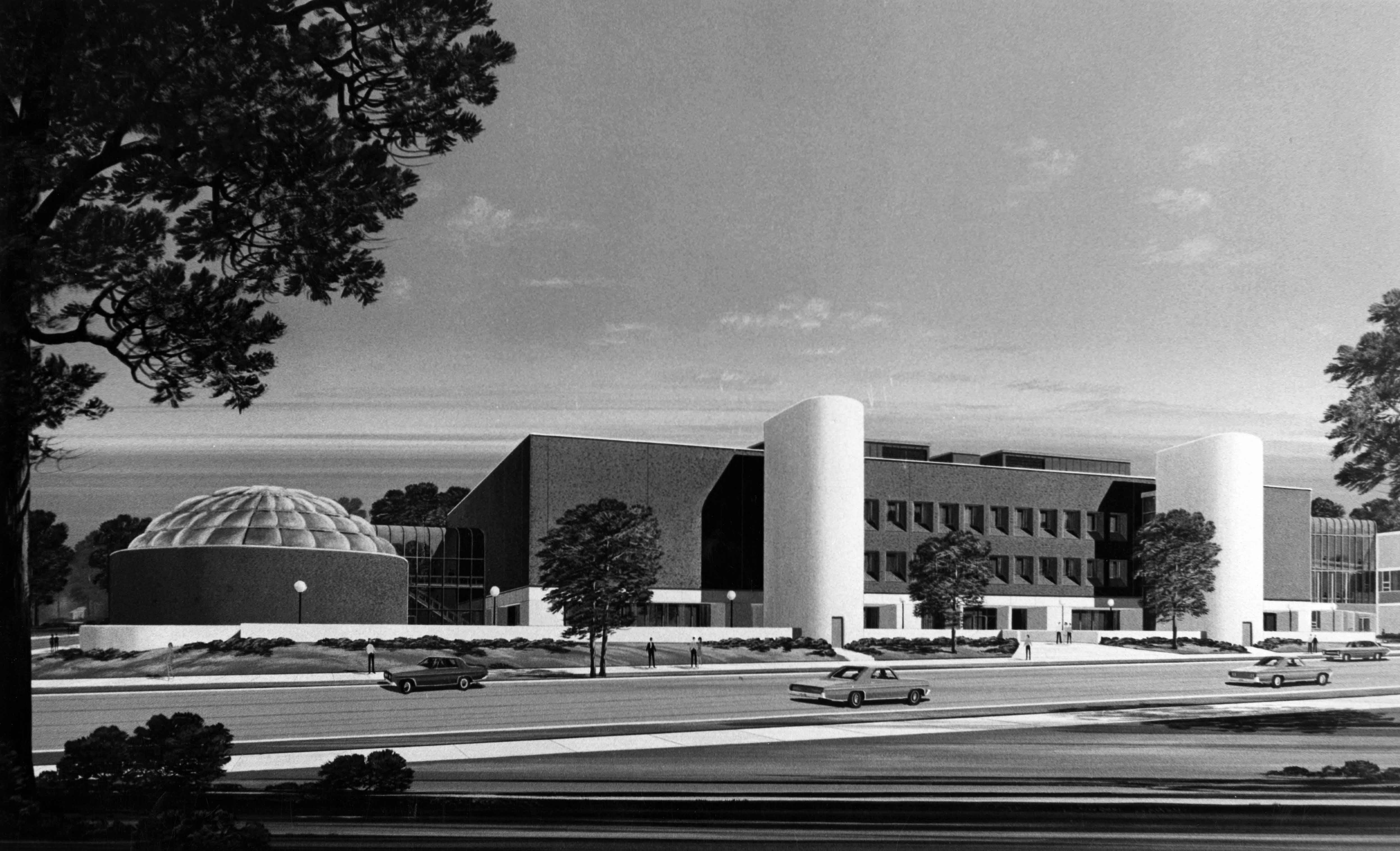 Architect's rendering of the Wick Science Building