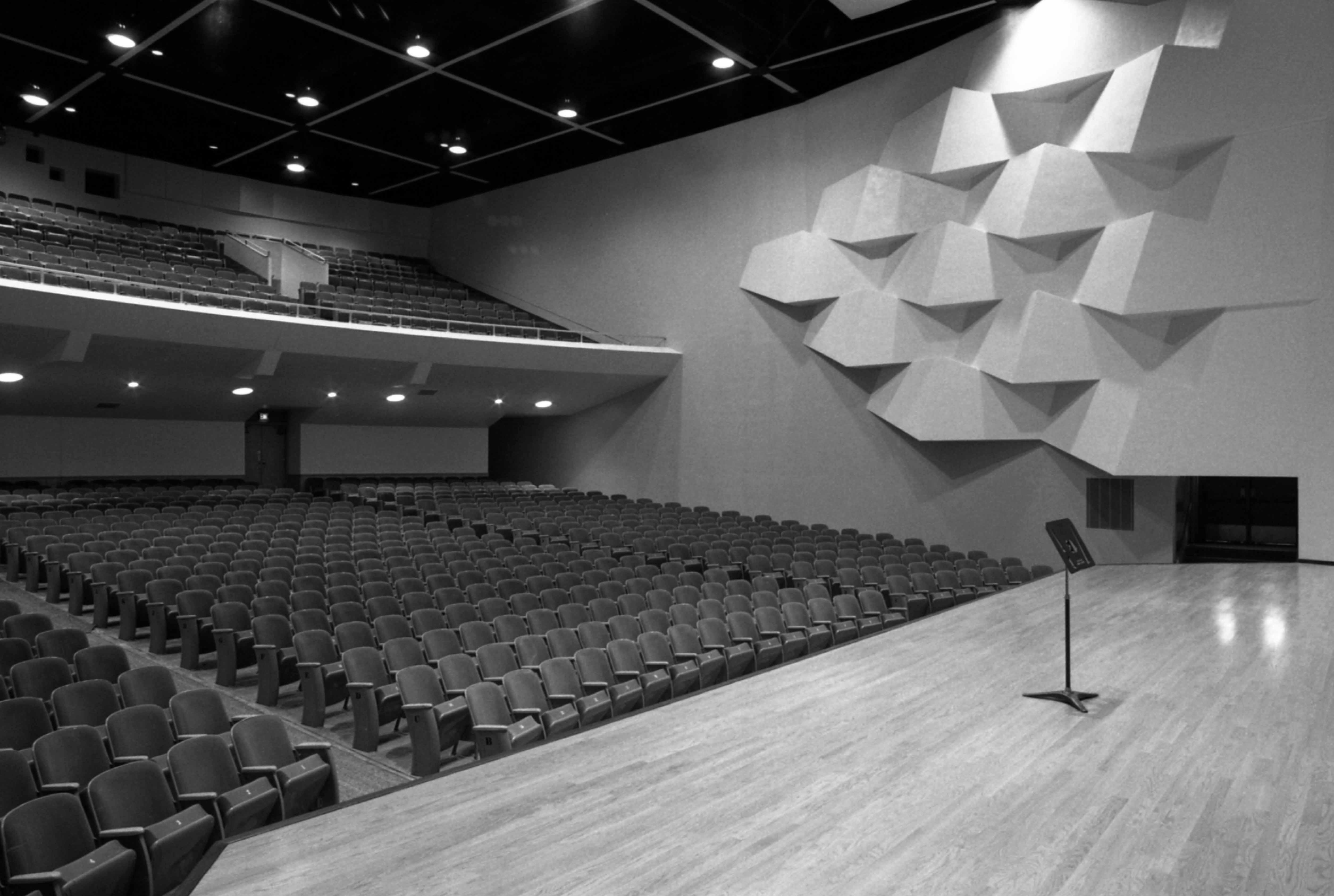 Stewart Hall auditorium, December 1977