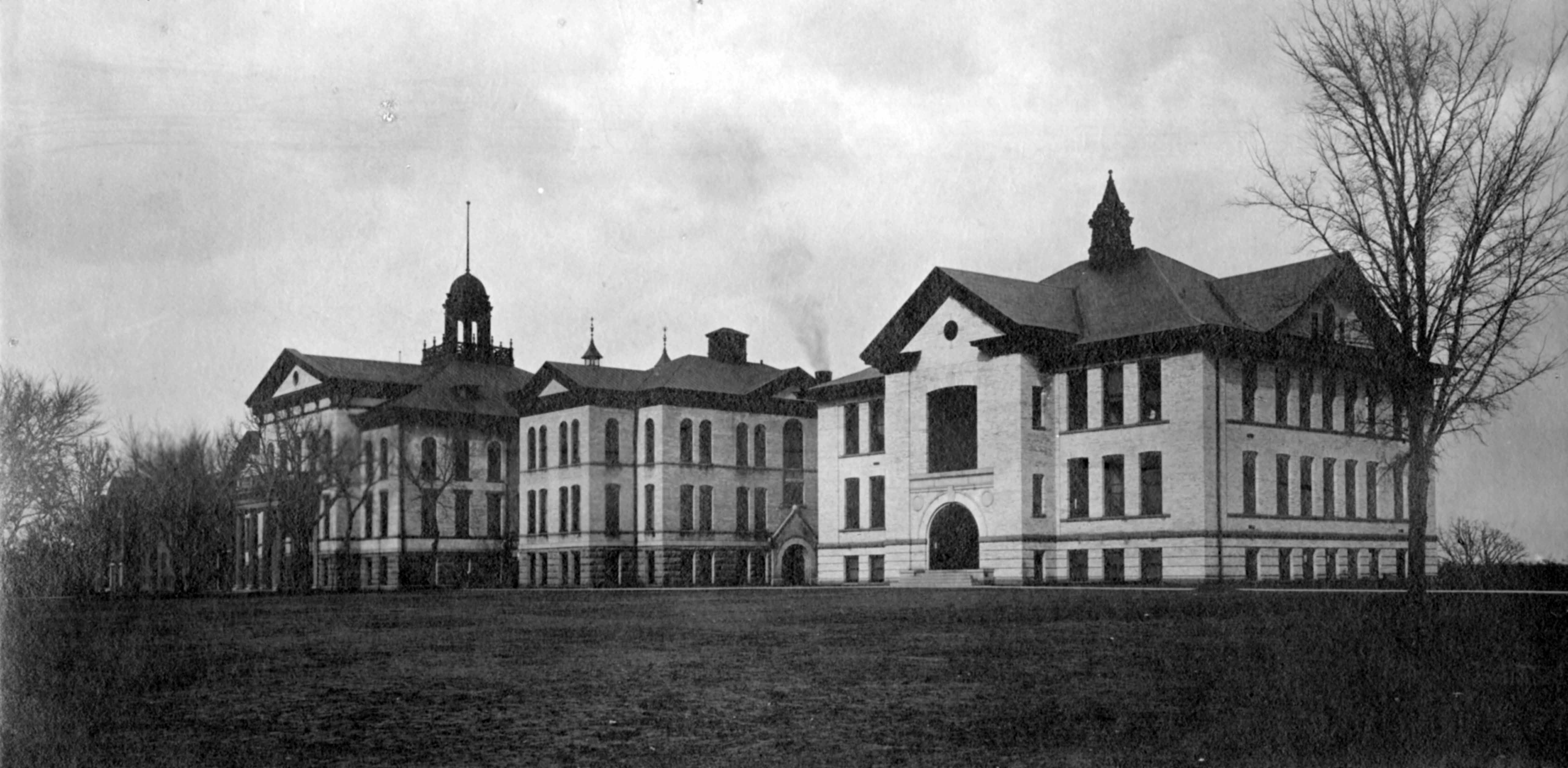 Old Main and Old Model School, 1908