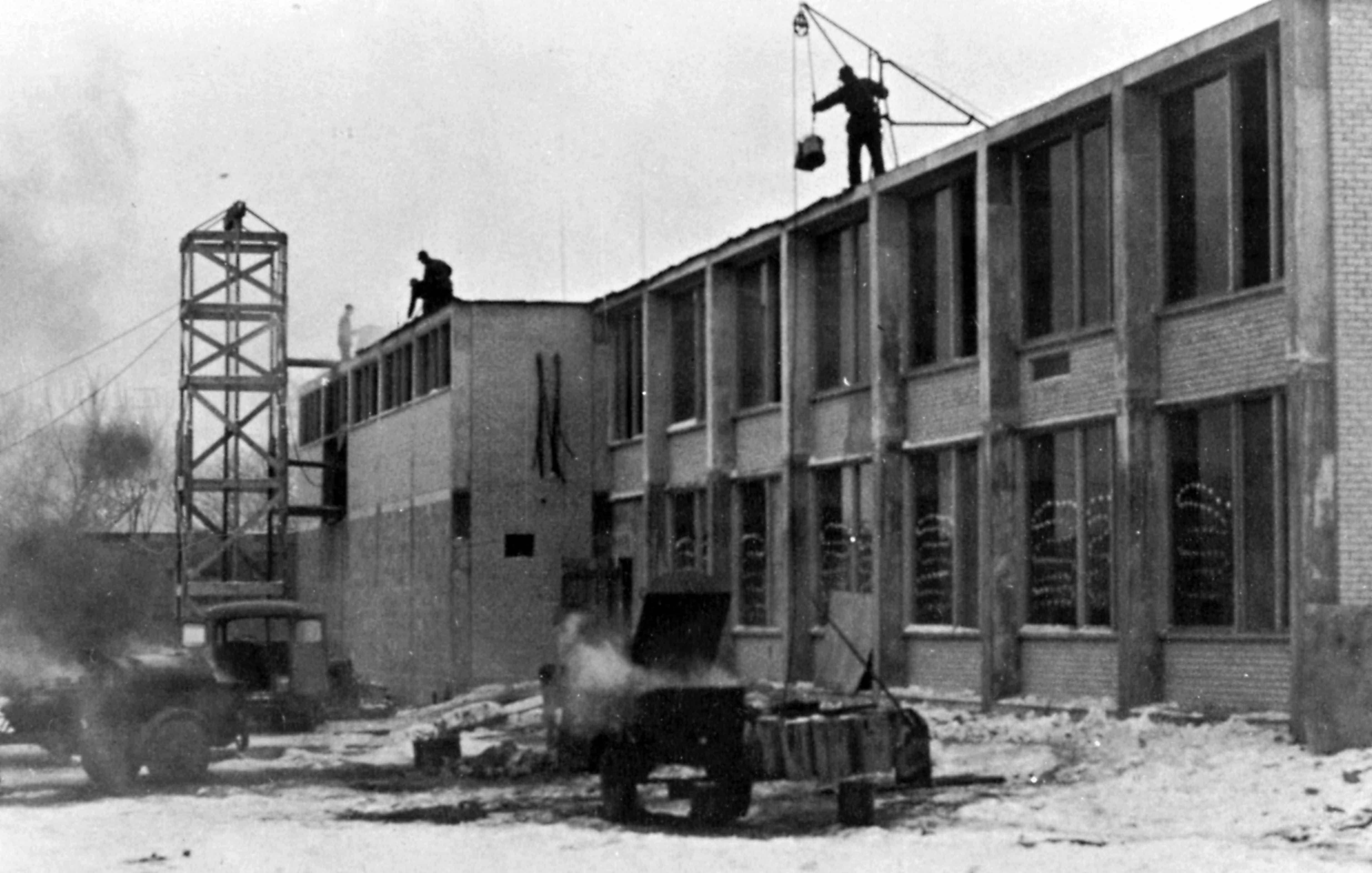 Gray Laboratory School construction, 1958