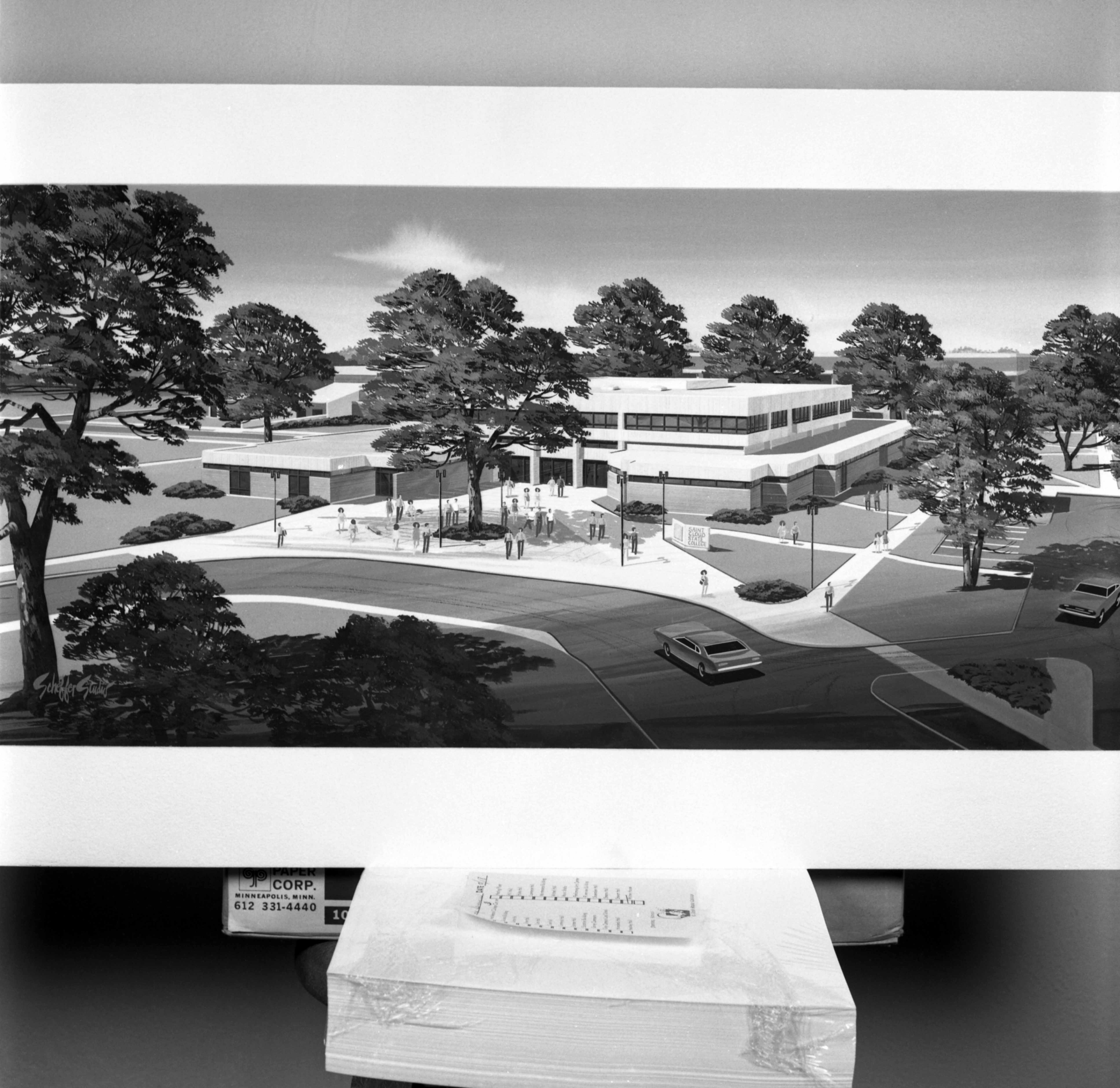 Architect's rendering of Administrative Services