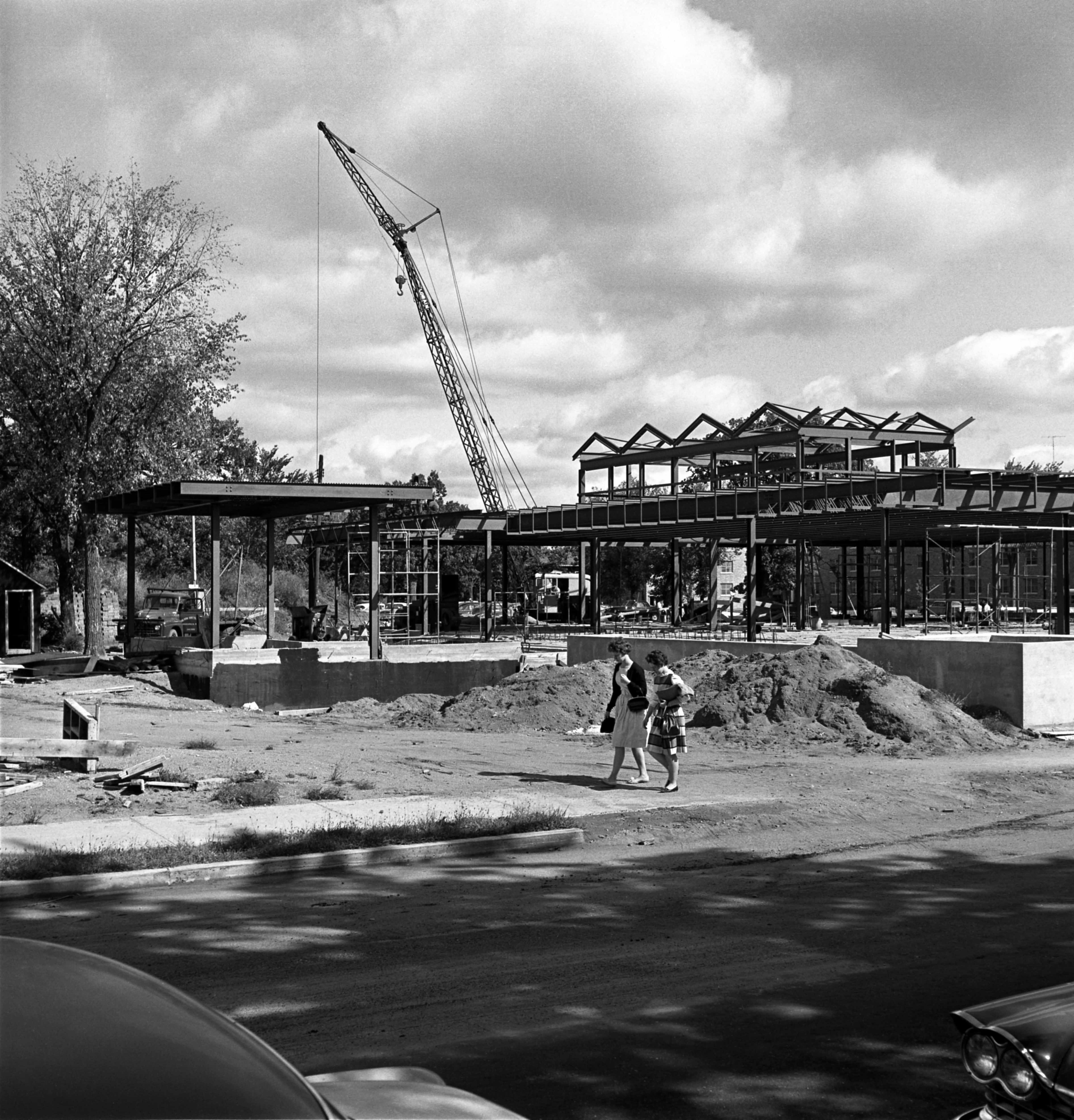 Garvey Commons during construction