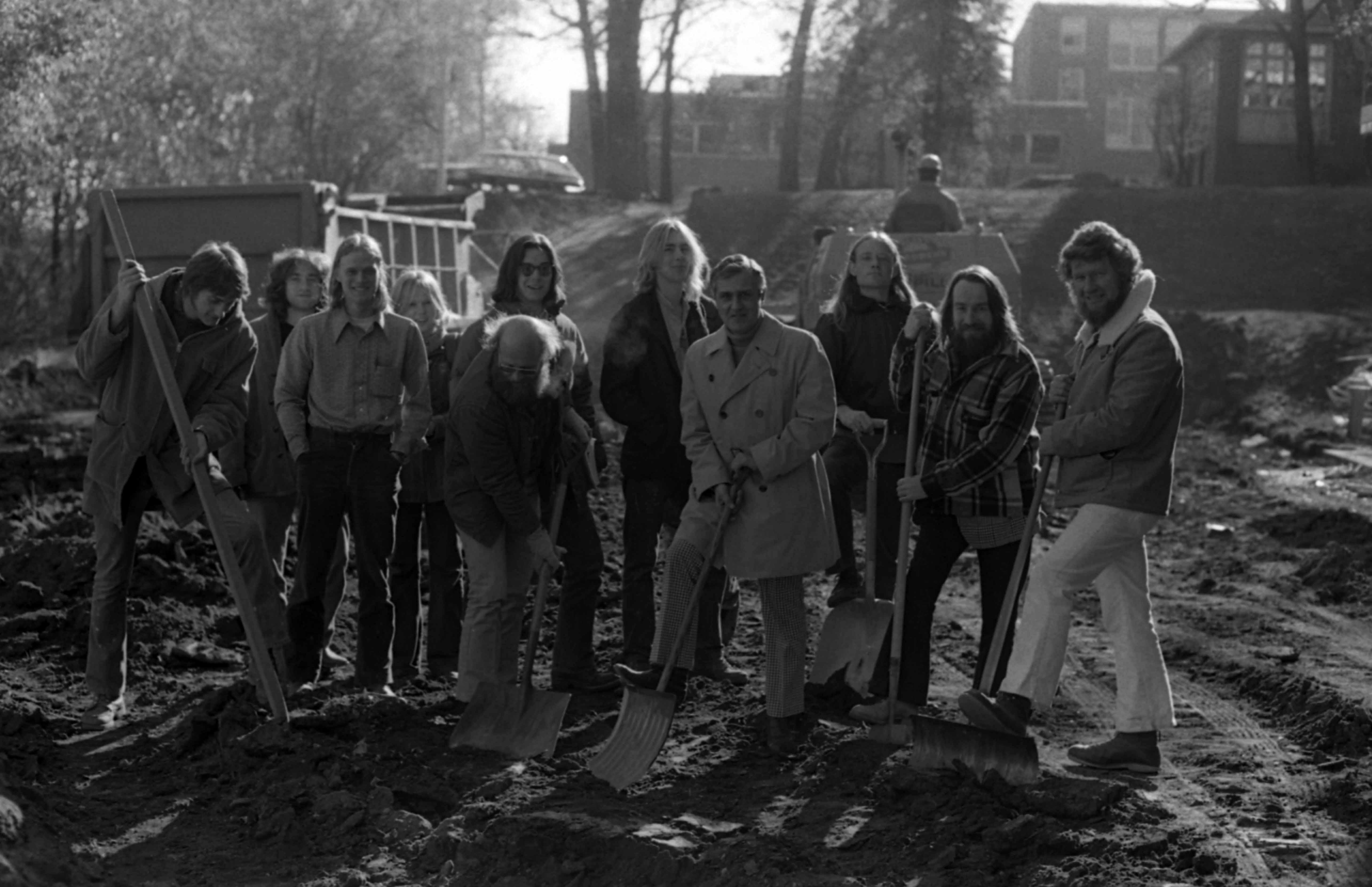Unofficial Kiehle renovation groundbreaking, November 1973