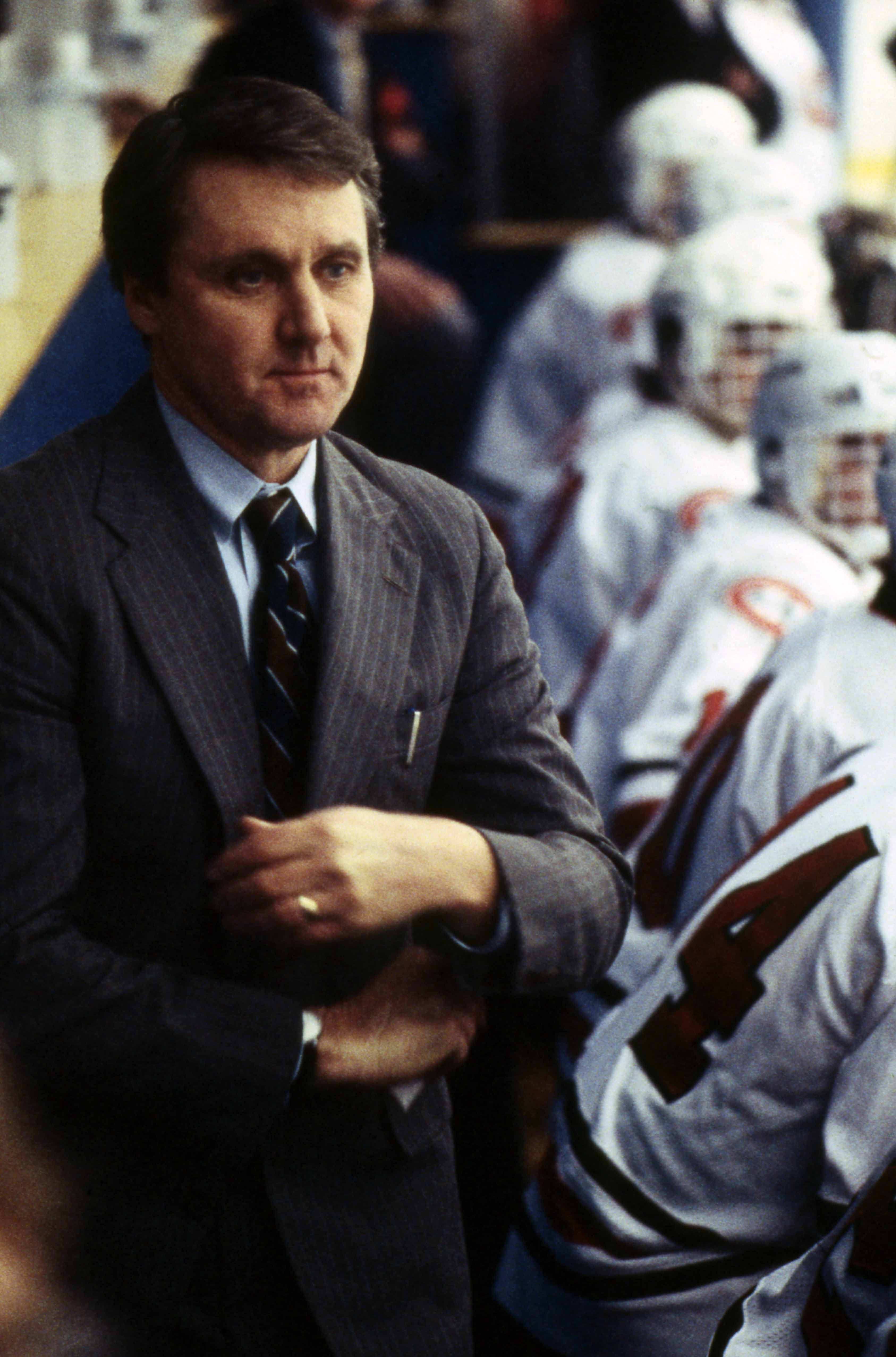 Herb Brooks coaching St. Cloud State, 1986-1987