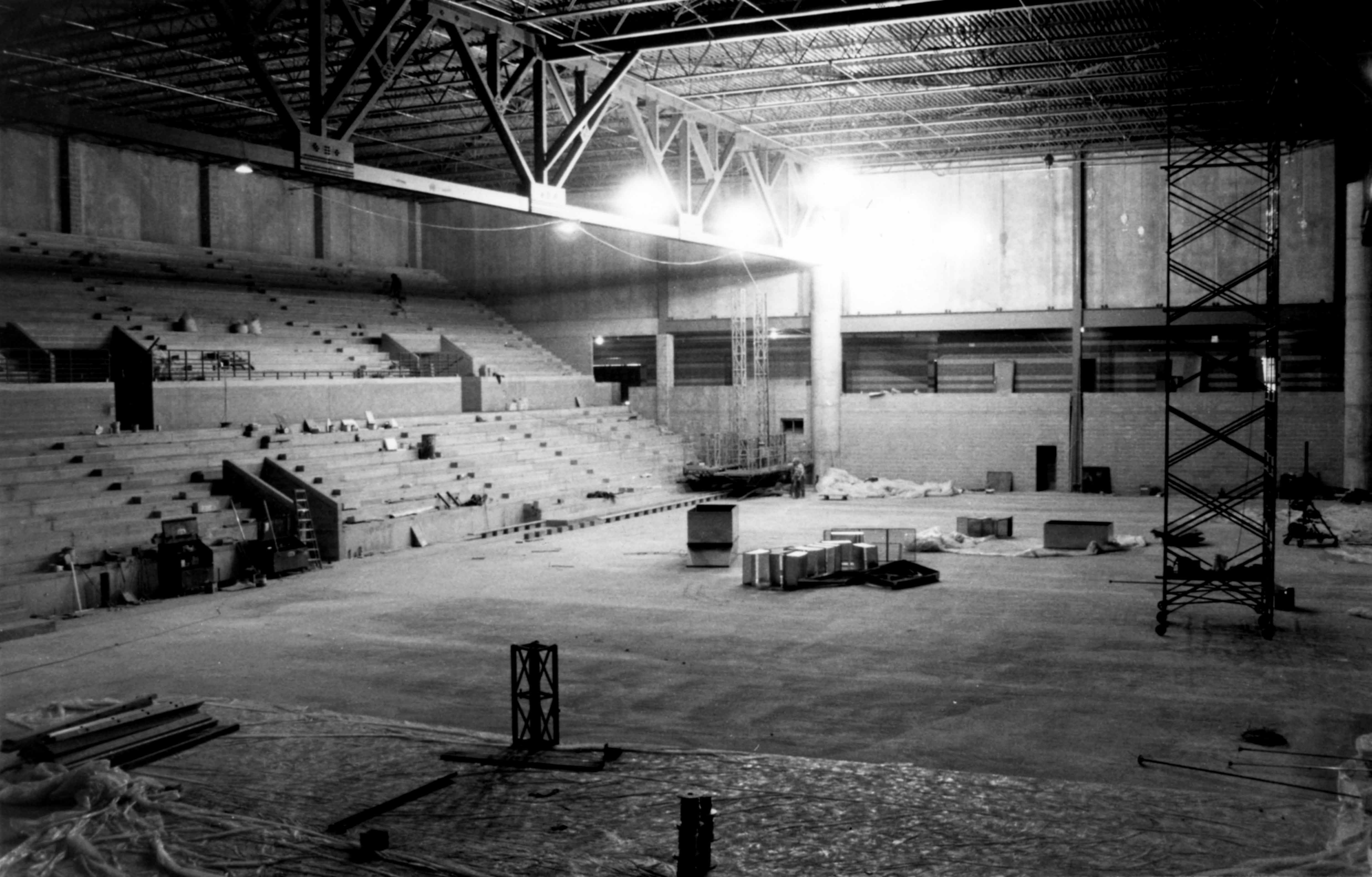 National Hockey Center construction, 1989