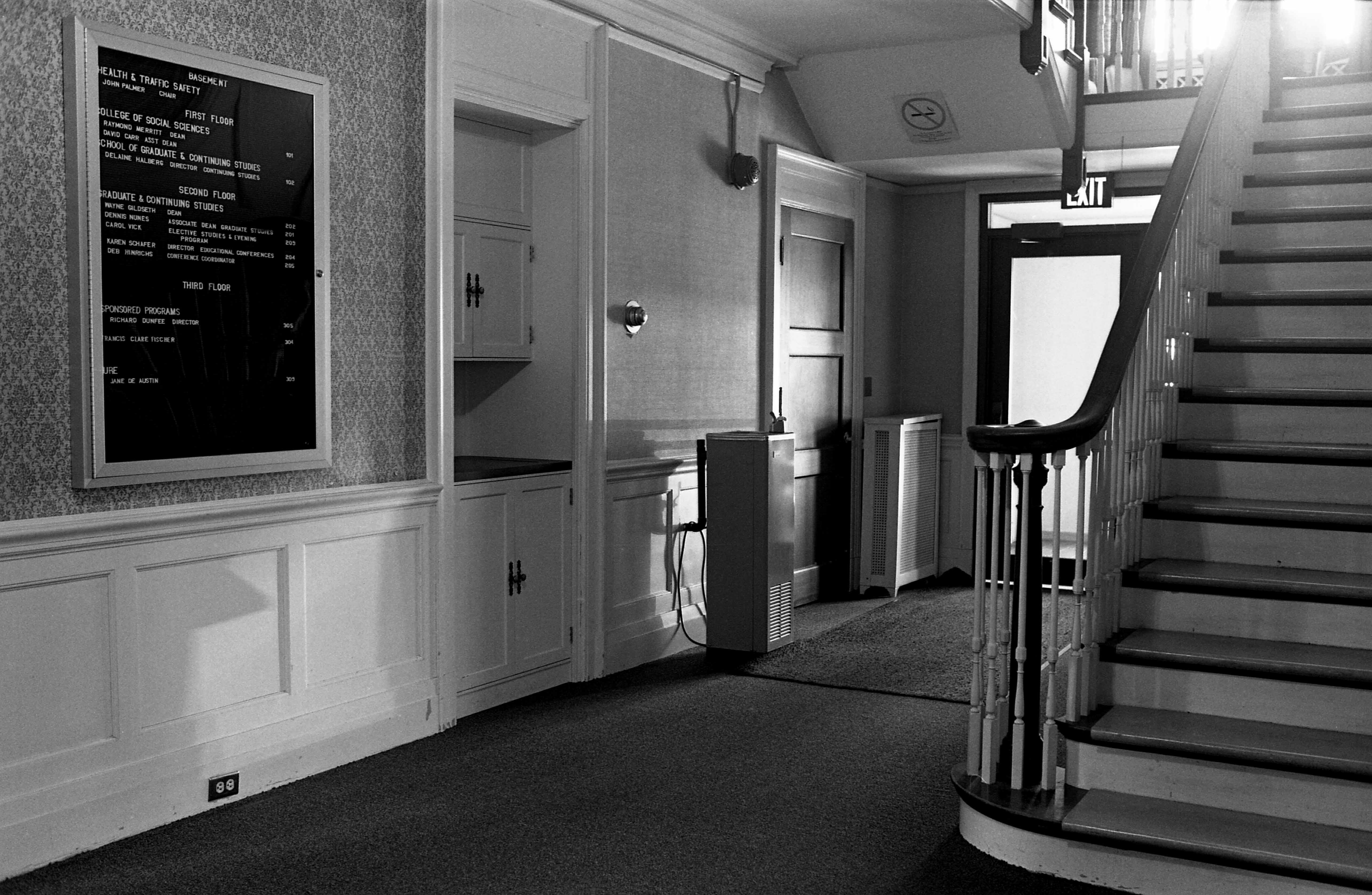 First floor main foyer of Whitney House, 1987