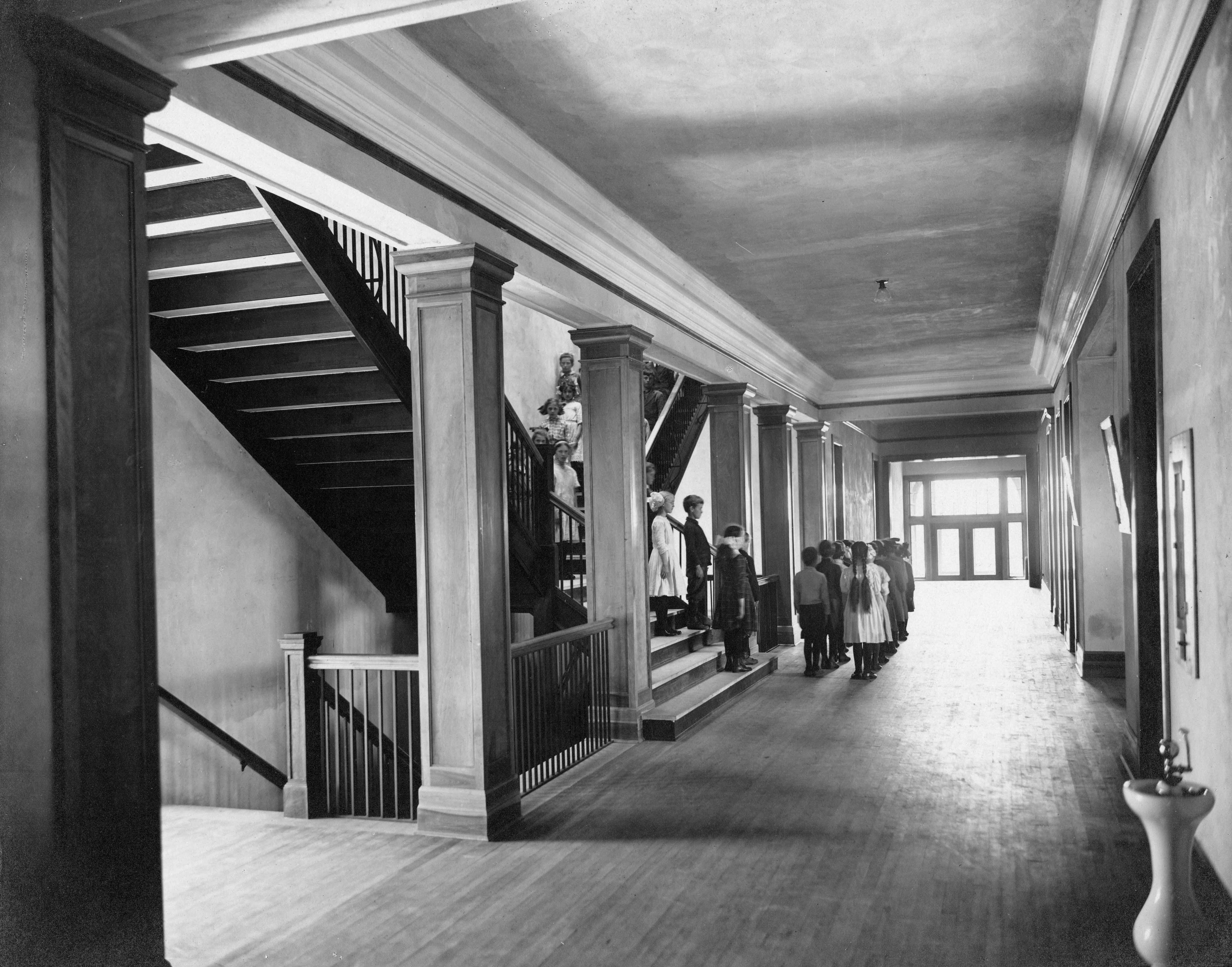 First floor of Riverview, ca. 1915
