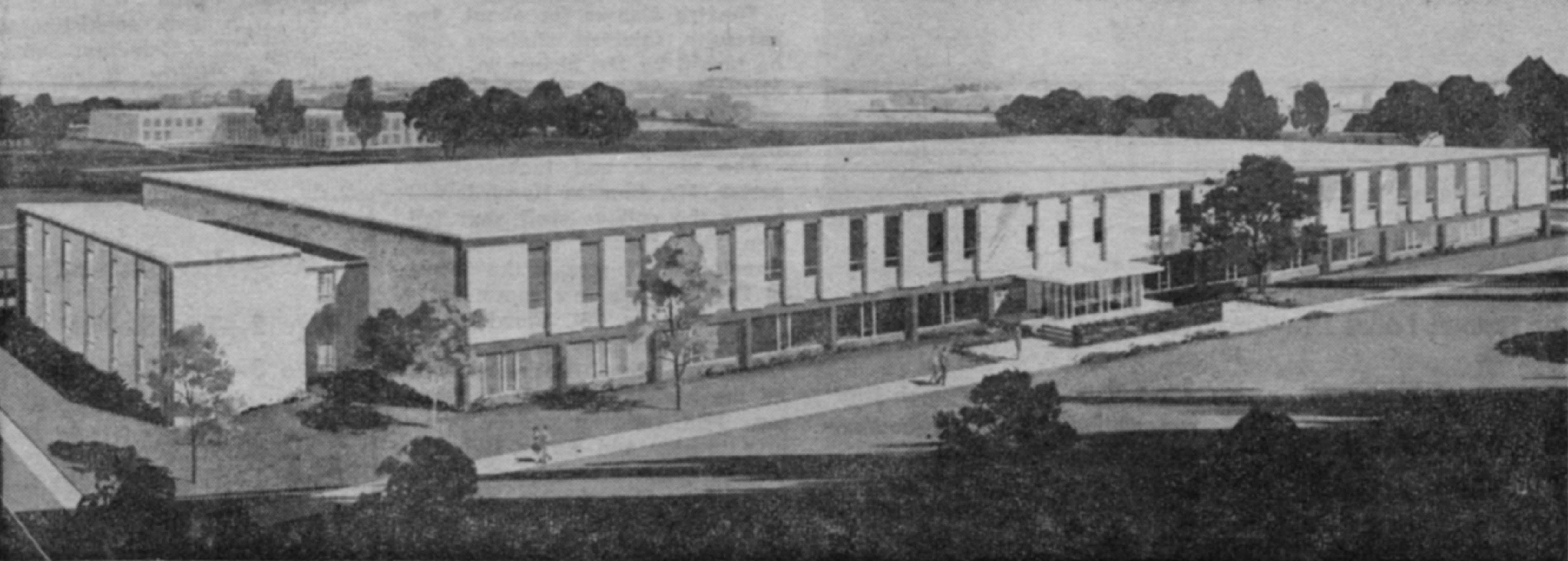 Architect's rendering of Headley Hall