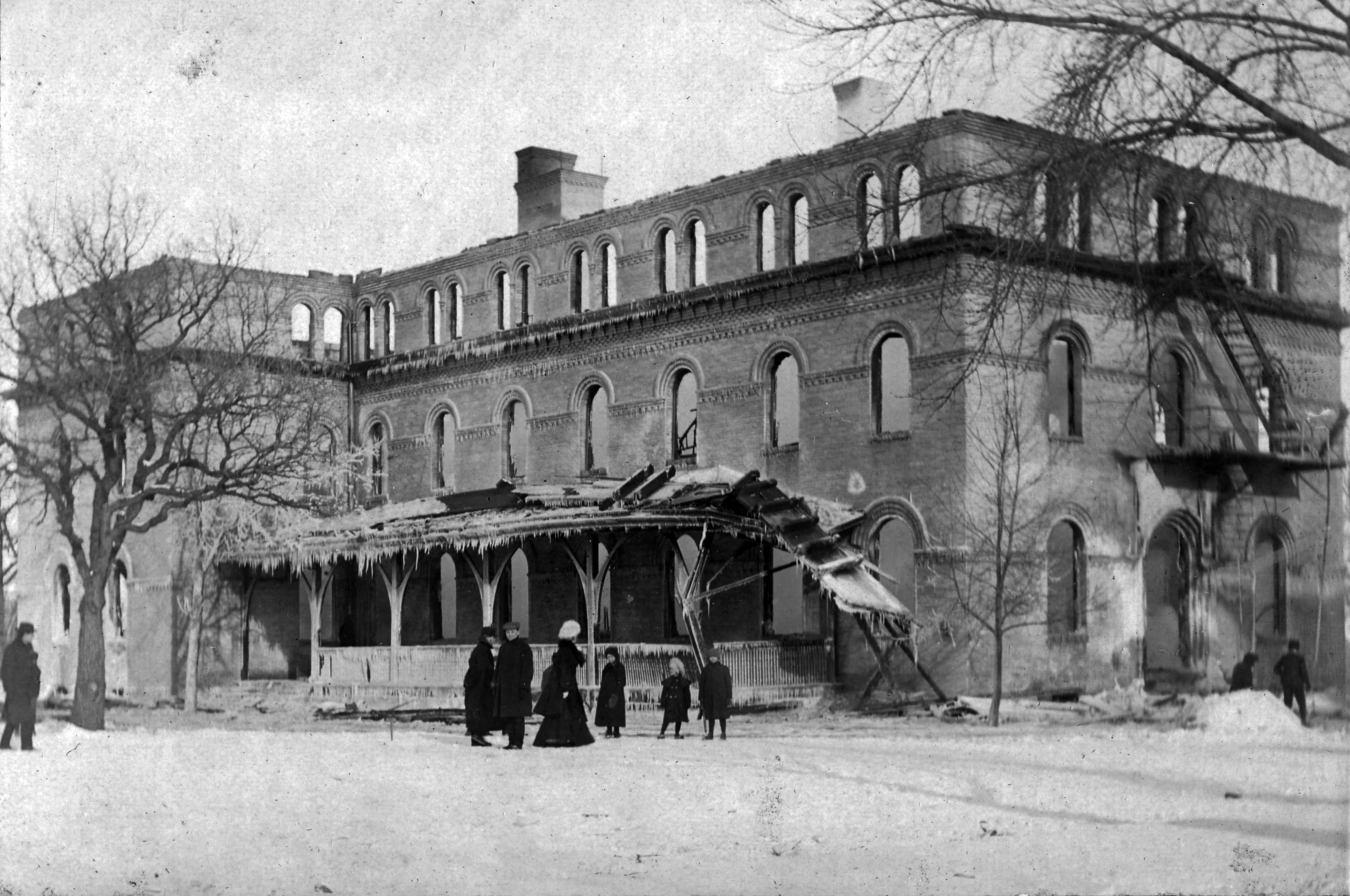 Lawrence Hall after fire