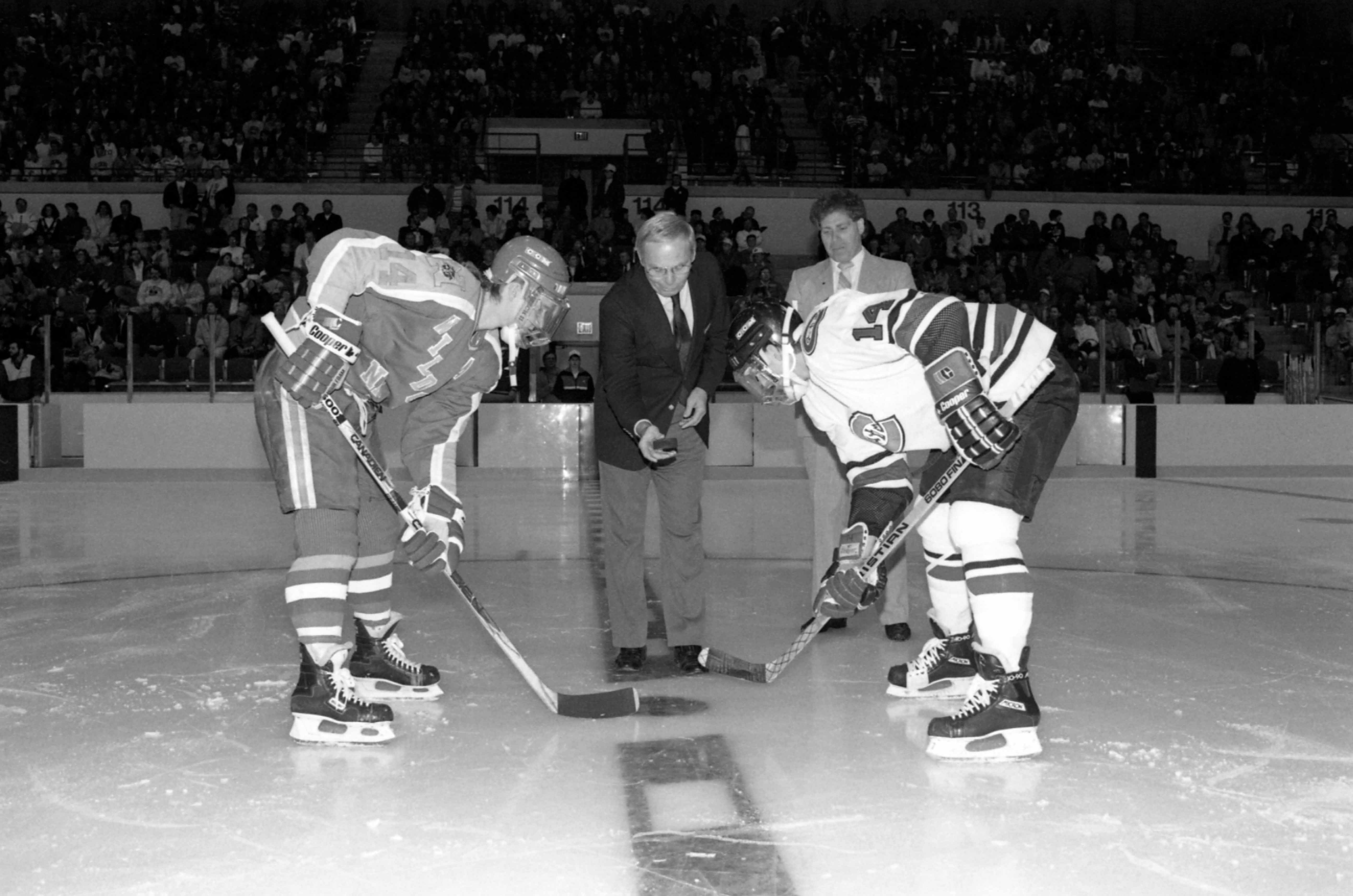 Puck is dropped at first NHC game, December 1989