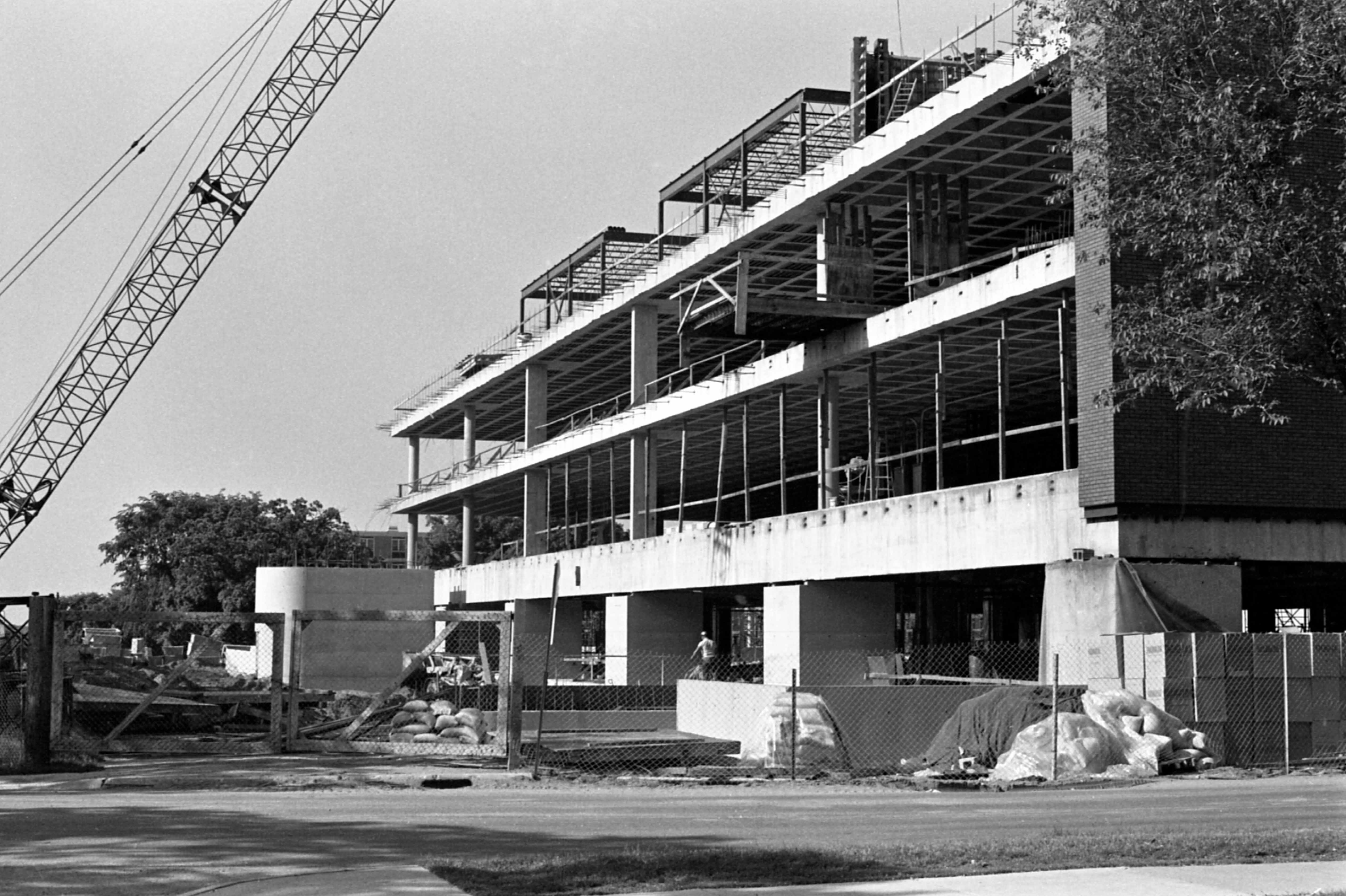 Wick Science Building construction, 1972