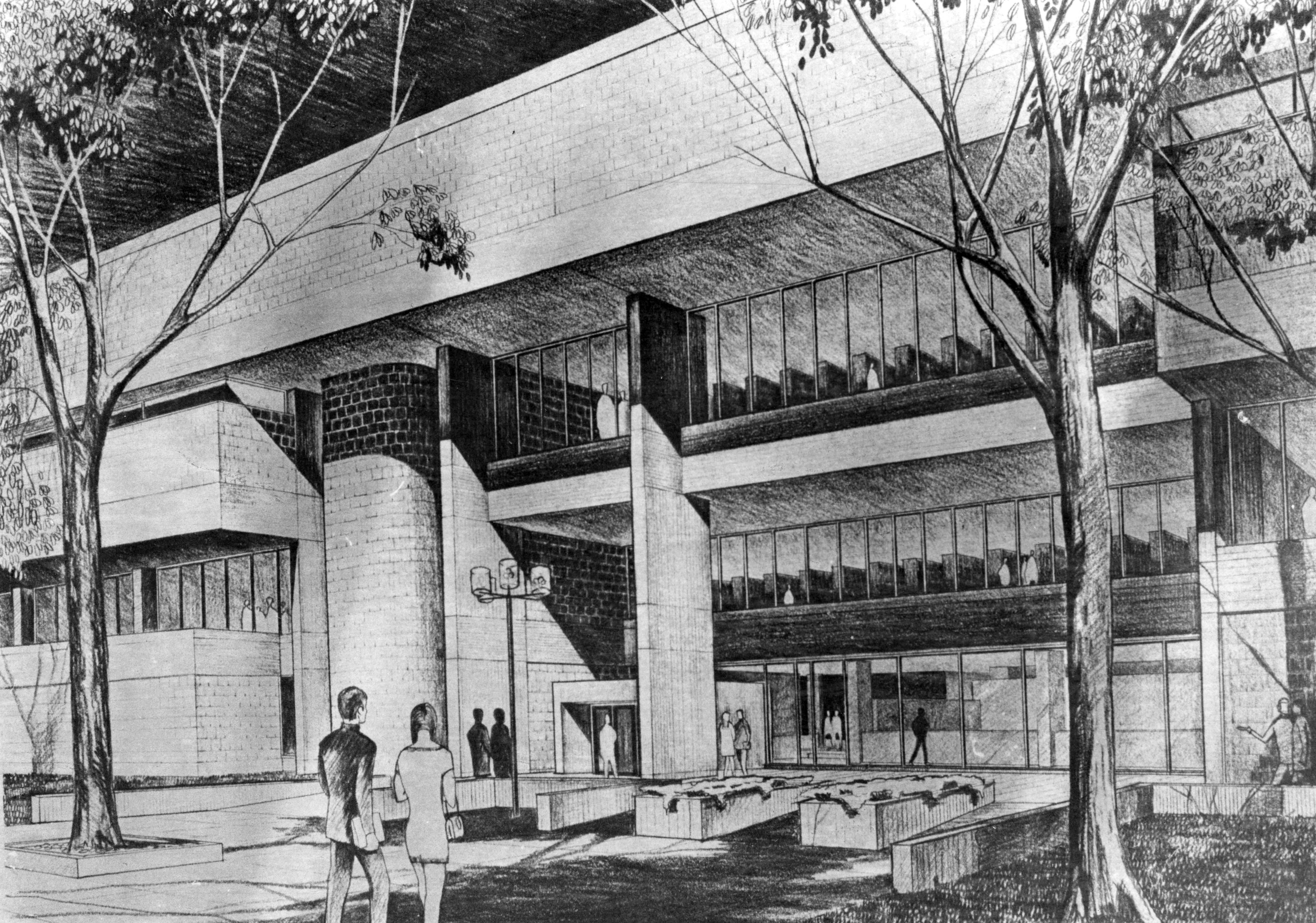Architect rendering of Centennial Hall