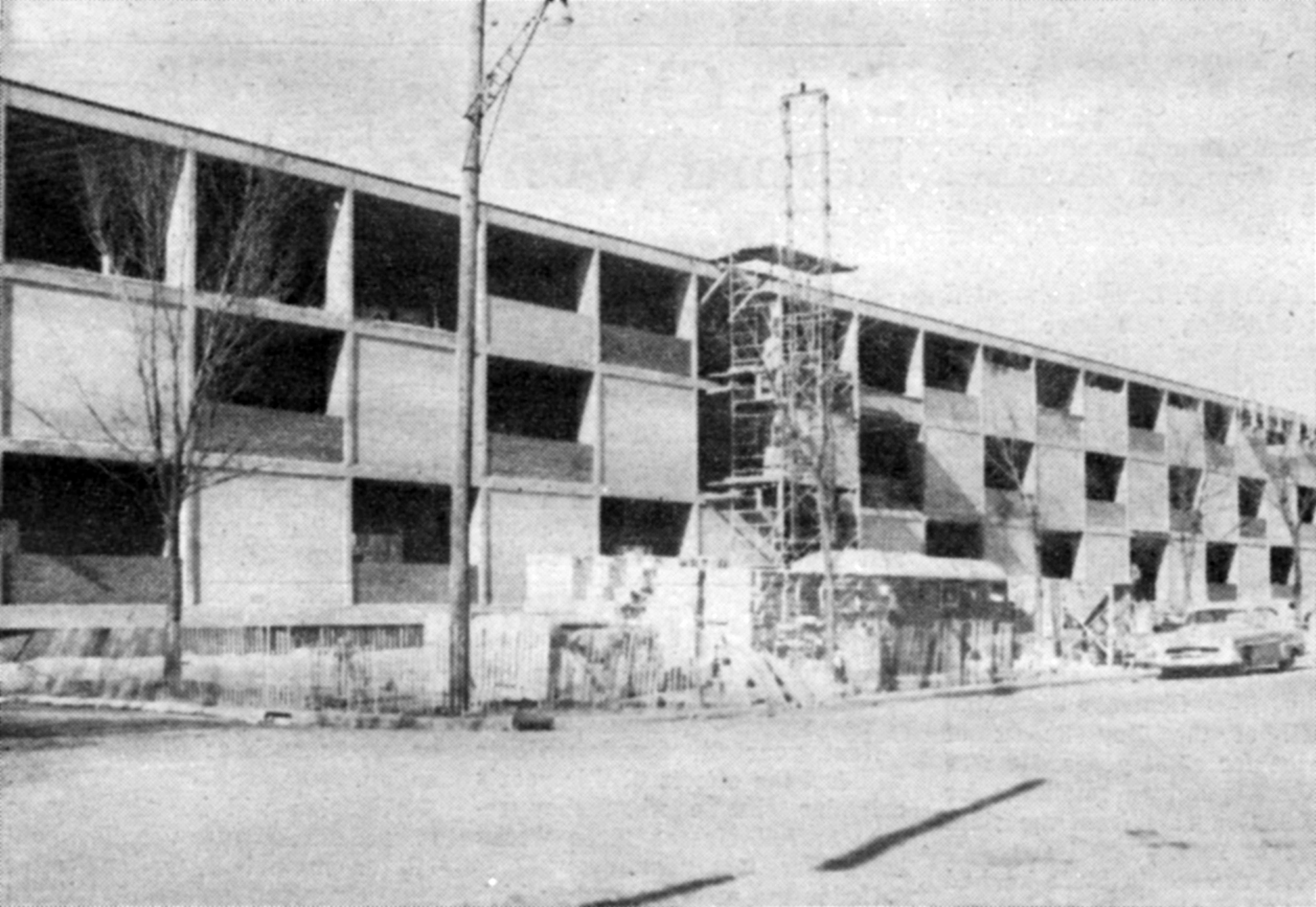 Construction of Brown Hall (1959)