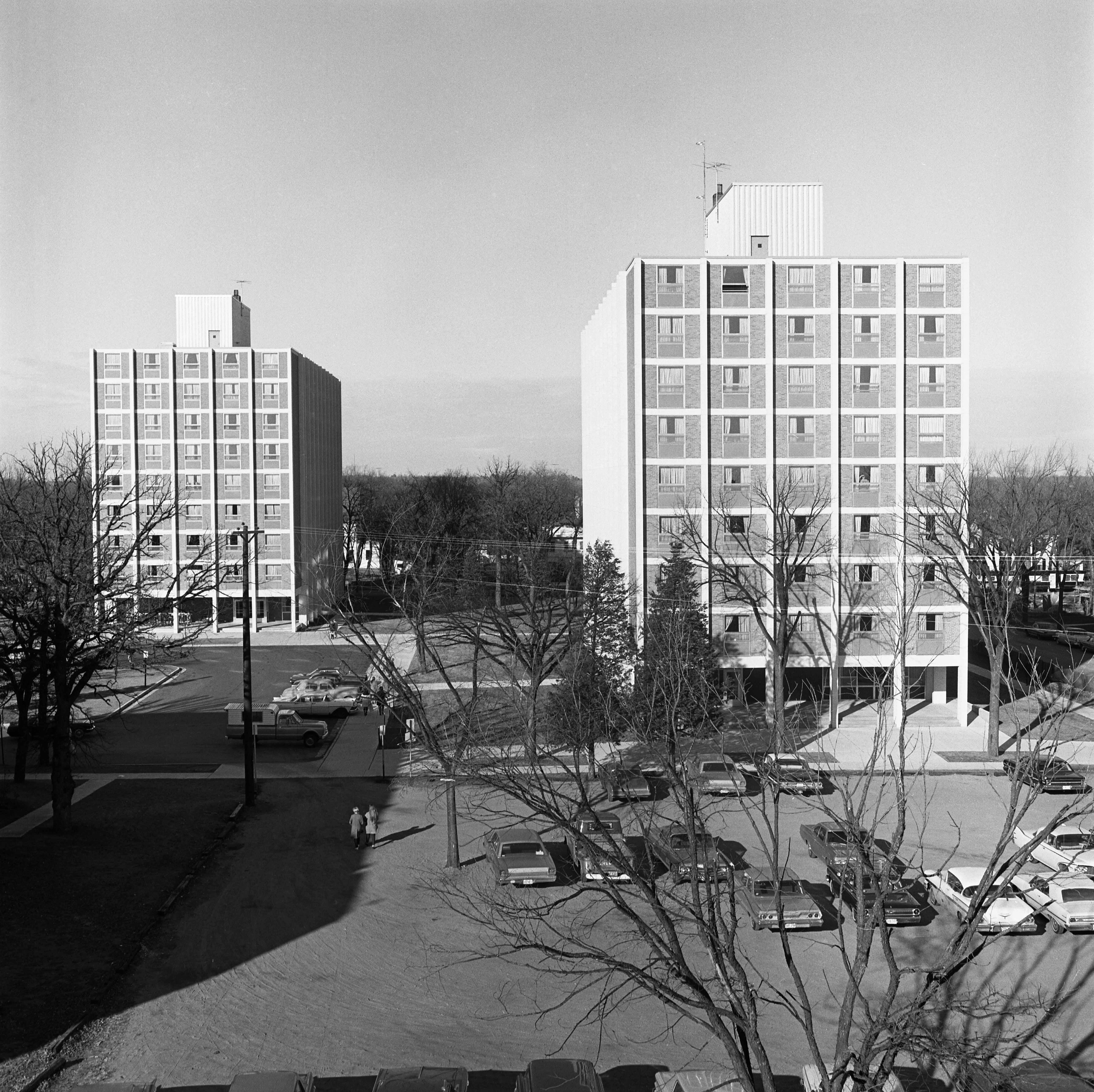 Holes Hall and Stearns Hall, 1967