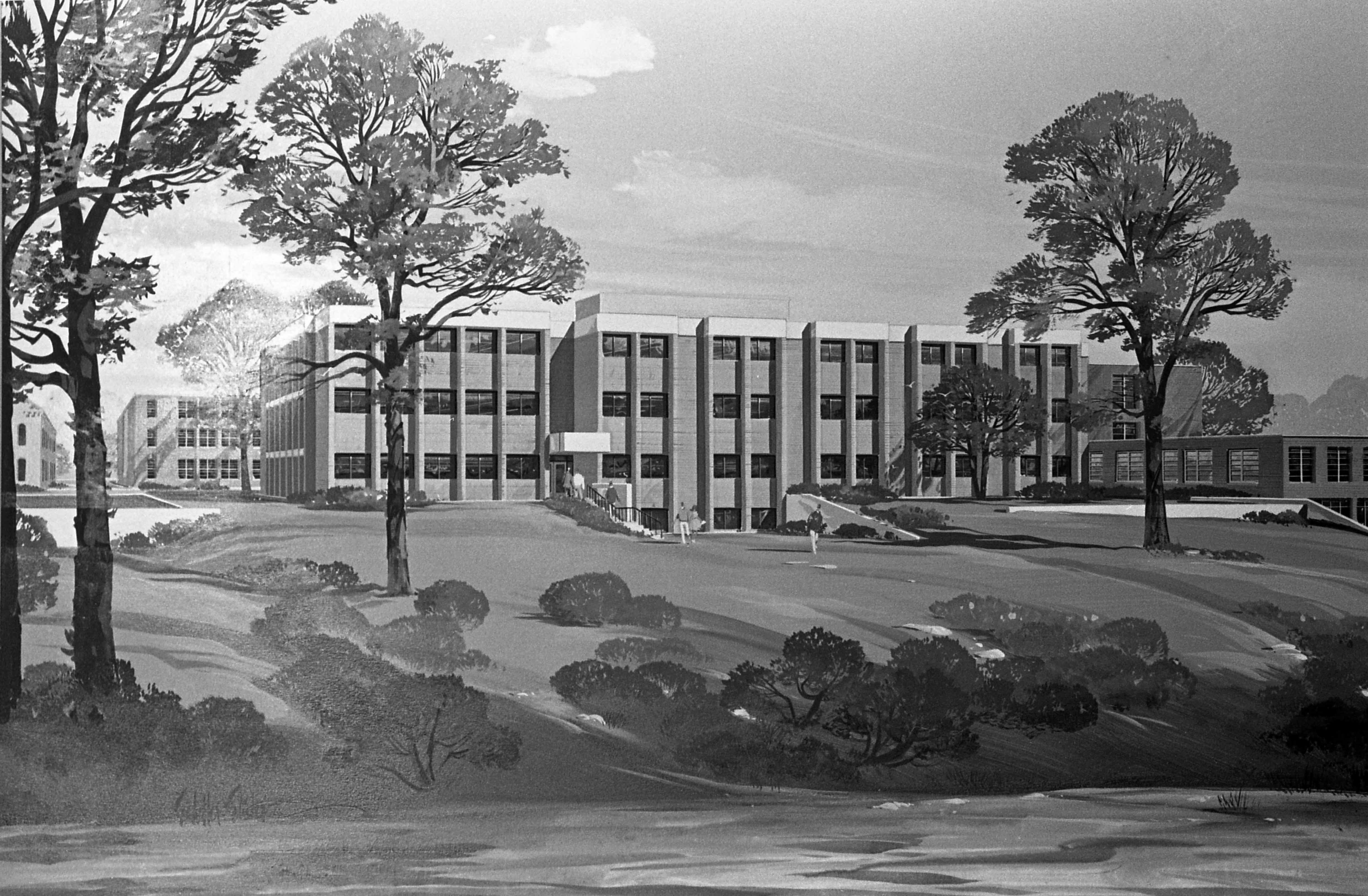 Architect's rendering of the School of Business building